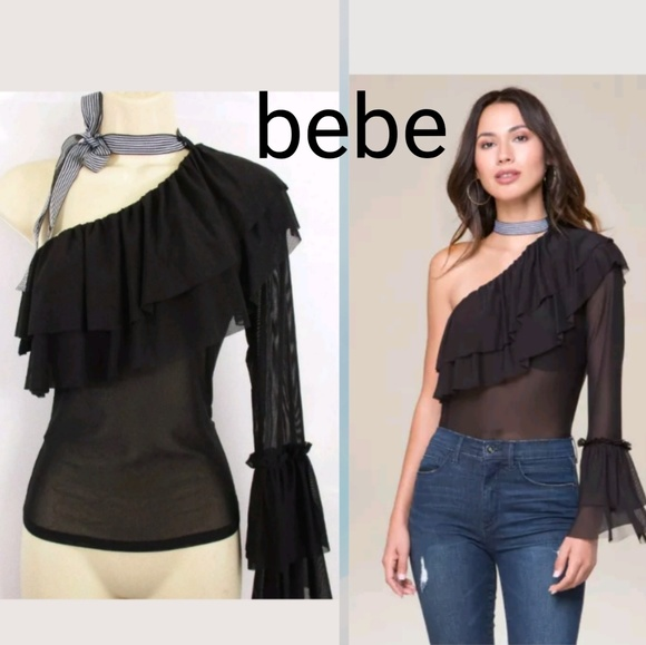 abbef859d09 bebe Tops | New With Tags Ruffled One Shoulder Topretai | Poshmark